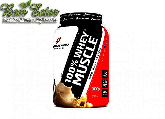 100% Whey Muscle - 900g  BodyAction